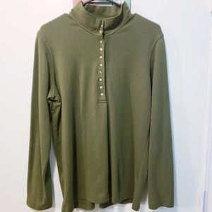 Natural Reflections Green Long Sleeve Top Size L